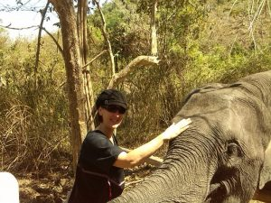 Penelope with Thai elephant